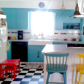 Bright Colorful Clean Kitchen
