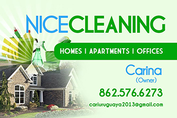 Nice Cleaning Flyer with Contact Information